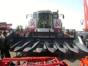 Actual farm harvesting equipment