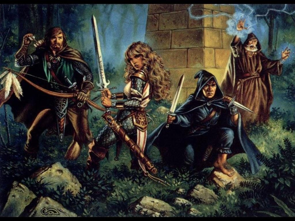 Dungeons and Dragons cliche party