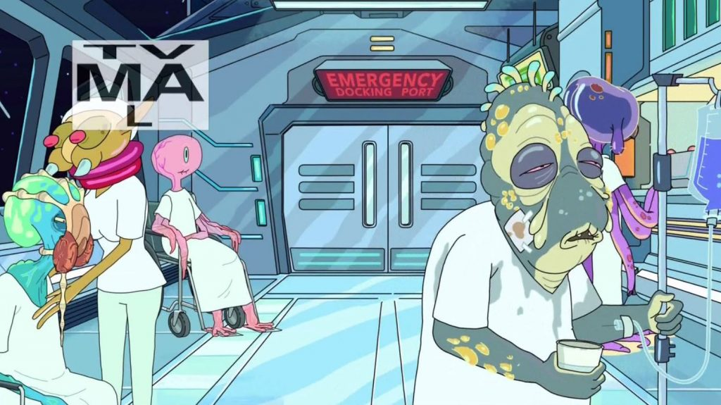 References in Rick and Morty - Face hugger