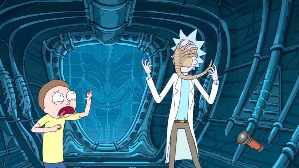 References in Rick and Morty - Facehuggers
