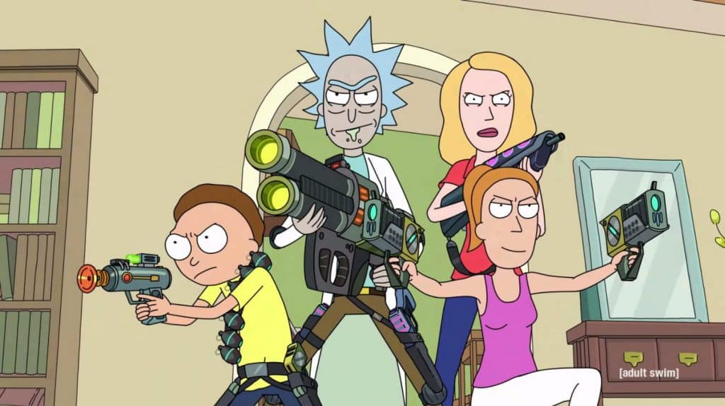 References in Rick Morty - Guns