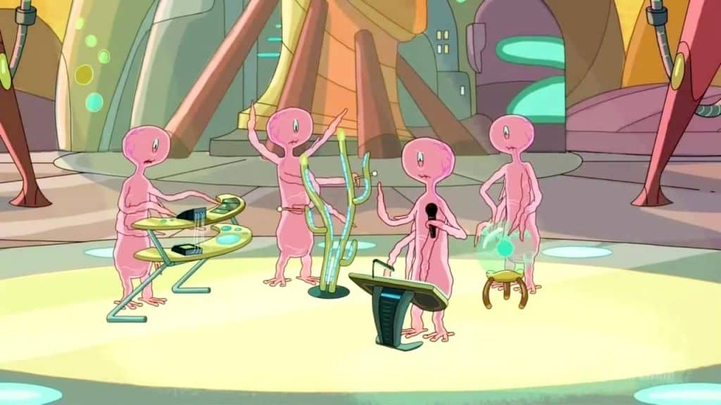 References in Rick and Morty - Star Wars cantina