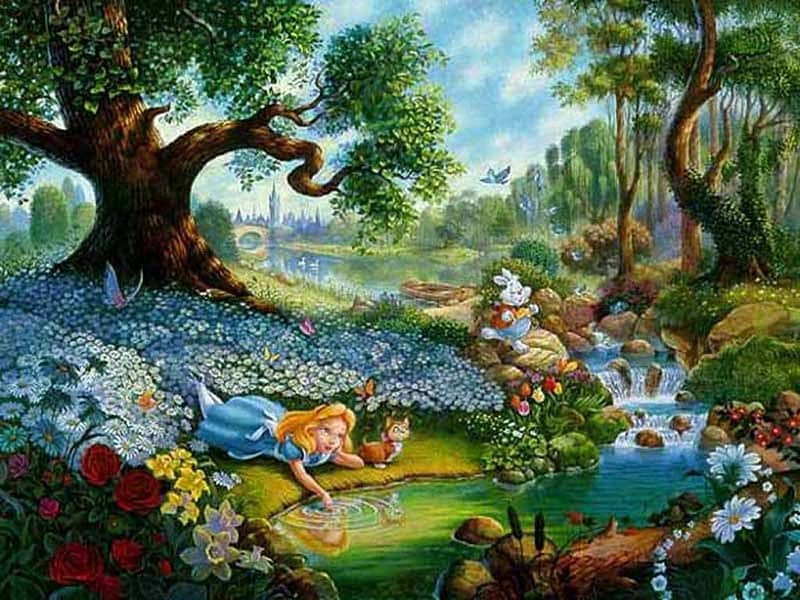 Fictional Locations - Wonderland - Alice in Wonderland