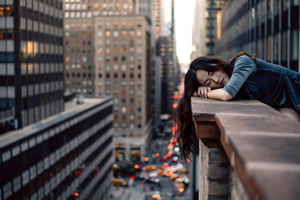 sleeping outside in city