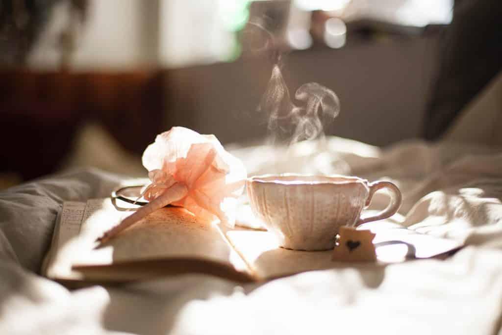 cofee writing in the morning