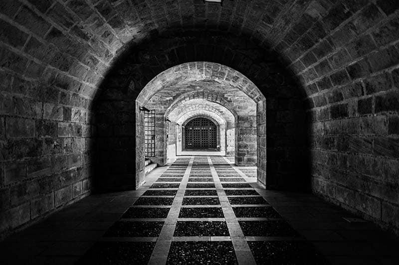 gothic architecture tunnel