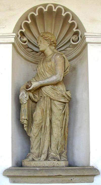 Cassandra marble statue