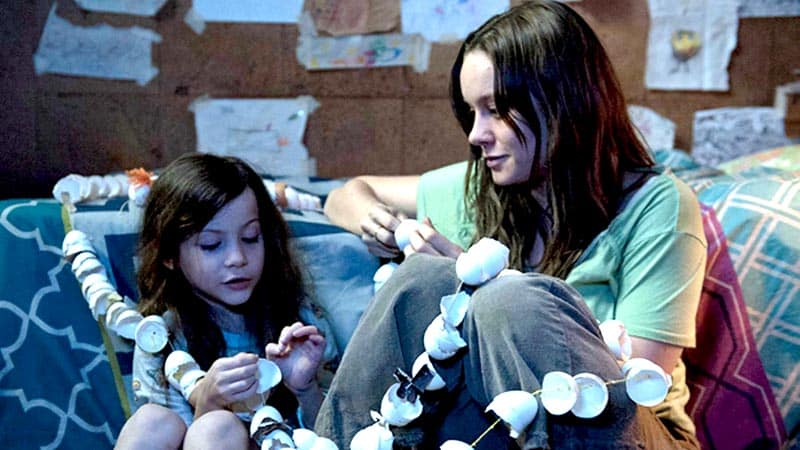 room, a trapped movie, starring brie larson and jacob tremblay