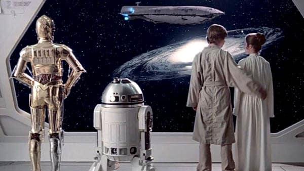Star Wars: The Empire Strikes Back ending shot