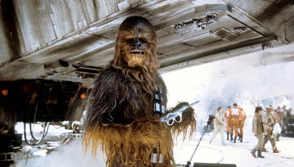 Star Wars: The Empire Strikes Back Chewbacca works on the Millennium Falcon on ice planet Hoth