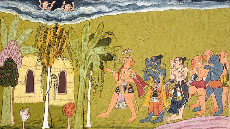 Rama and Lakshmana - Shangri Ramayana - Indian fantasy writers