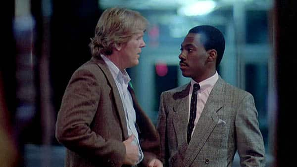 48 hrs - nick nolte and eddie murphy talk on the street - best buddy cop movies ever